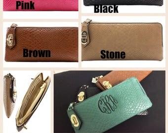 Lady's monogram wallet