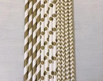 Gold Straws ~ Paper Straws ~ Cake Pop Sticks ~ Cake Pop Straws ~ Wedding Straws