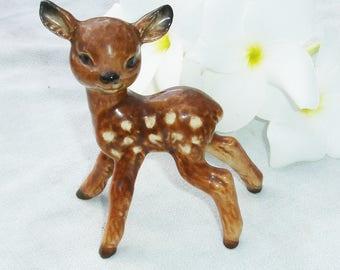 Vintage Goebel Fawn Figurine - Signed Goebel