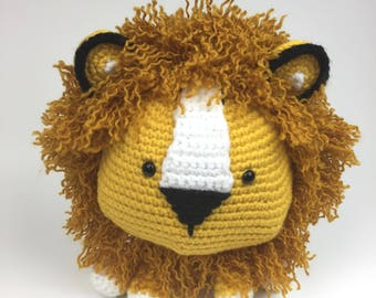 Crochet Lion-Amigurumi Lion-Crochet Lion Toy- Lion Stuffed Animal-Amigurumi Lion Toy-Crochet Lion Animal-Lion Stuffed Toy