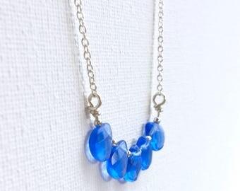 Teardrop Bar Necklace - Bar Pendant - Gemstone Necklace - Layering Necklace - Dainty Necklace - Bar Necklace - Gold - Minimal Necklace