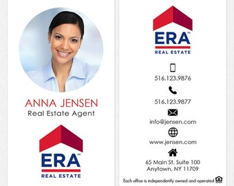 ERA real estate deluxe business cards - thick, color both sides - FREE UPS ground shipping