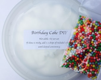 POPULAR DIY Birthday Cake Slime