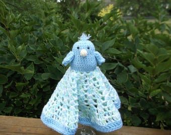 Blue Bird of Happiness Lovey/Security Blanket