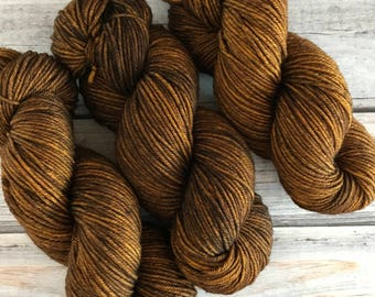 Journey Worsted in Brown Butter by Skeinny Dipping Yarn
