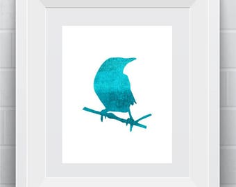 blue bird watercolor art wall art wall art for home gift for animal lover bird watch father watercolor art  wall art printable