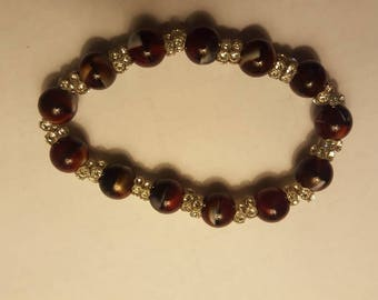 Multi-Colored Bead and Crystal Bracelet