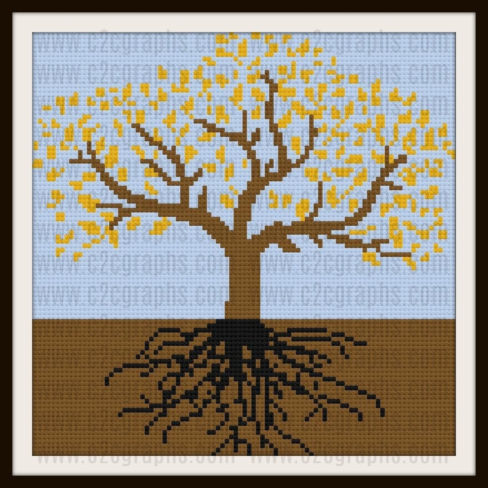 Tree of life autumn 1 afghan c2c graph written word chart this is a digital file bankloansurffo Images