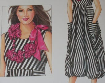 Dress Pattern By Patty Reed Designs Simplicity Pattern 8046 Sizes XS-XL Knits Only