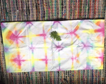 King Pillowcase Sunshine Rainbow Kalidescope Hand Dyed Rainbow Tie Dye