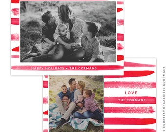 Christmas 5x7 Photo Card - Instant download - e1506