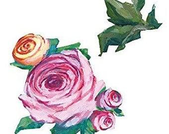 Shop Closing Sale! Kates Pink Roses Wallies Wallpaper Cutouts -- 12106