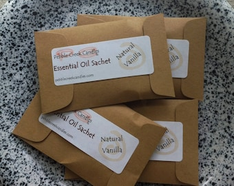 Natural Vanilla Sachets Aromatherapy Essential Oil Scented, Modern Drawer Room Freshener, Eco Friendly Home