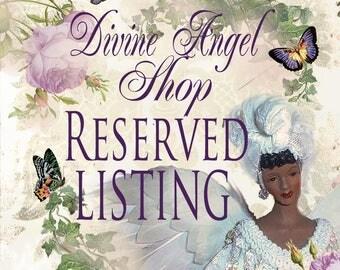 RESERVED FOR SANDY,  Inspirational Angel Doll, Christian Themed Tree Topper, 10 Commandments Dress Fabric, Porcelain Handmade Angel