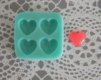 Flexible Mold - Puffy Heart