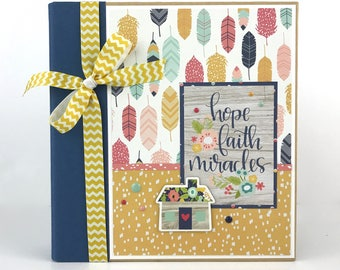 Family Faith Scrapbook Mini Album Do it Yourself Kit or Premade
