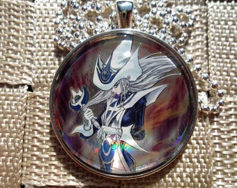 Silent Magician Lv8 HOLO Pendant Charm made from Trading Cards