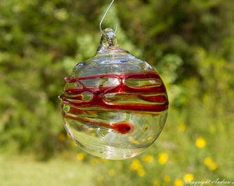 OOAK Hand blown Borosilicate Glass Christmas ornament O94