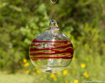 OOAK Hand blown Borosilicate Glass Christmas ornament O116