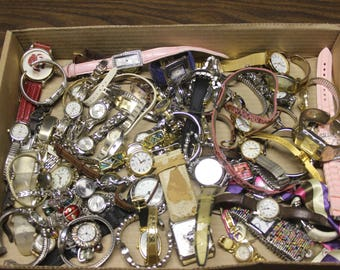 Watch Lot of 65 Destash Salvage Mixed Media Jewelry 4.8 Ibs Watches Repair