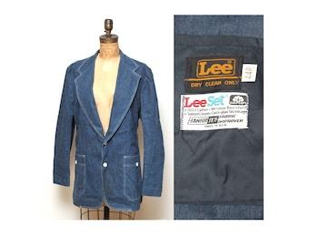 70s Womens Lee Denim Jacket XL