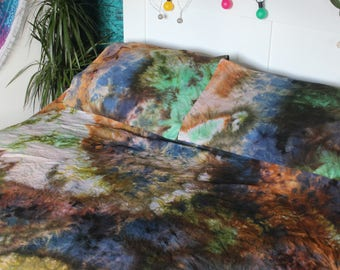 Handmade Duvet Cover and Pillowcases - Watercolor Tie Dye - Tie Dye Bedding - SWEET GAIALAXY