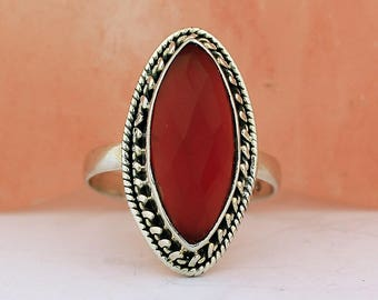 Handmade Onyx Ring // 925 Sterling Silver // Ring Size 6.5 // Handmade Jewelry