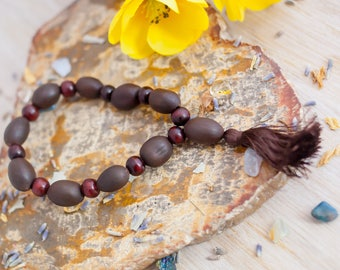 Lotus Seed Bracelet - Gemstone Stretch Bracelet  - Gemstone Bracelet