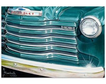 Americana Wall Art 'Grandpaz' by Todd Mandeville - Classic Cars Decor Country Rustic Automobiles on Metal or Plexiglass
