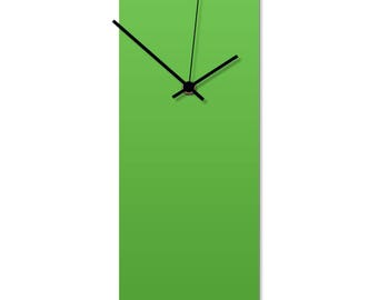 Contemporary Clock 'Greenout Clock' by Adam Schwoeppe - Original Green Kitchen Clock Minimalist Wall Decor on Aluminum Polymetal