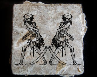 Reaper etching coaster set. **Ask for free gift wrapping and have them sent directly to the recipient!**