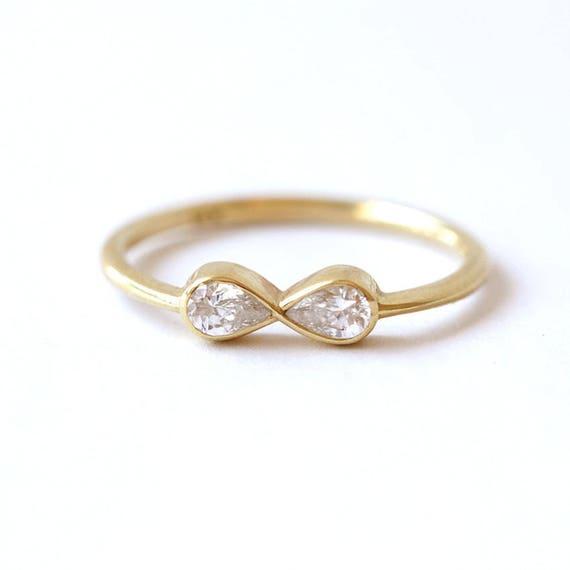 Engagement Ring Diamond Infinity Ring Alternative Engagement