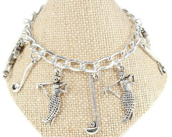 Golf Bracelet Golf Group Gift Golf Jewelry Sports Jewelry Golfers Gift Golf Club Charm Love Golf Gift Golf Teacher Gift Christmas Birthday