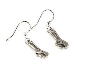 Wrench Earrings Carpenter Gift Tool Earrings Tool Charm  Tool Earrings Tool Jewelry Wrench Jewelry Crescent Wrench  E110