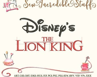Lion King Machine Embroidery Font