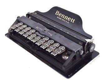 Antique Black Bennett Typewriter