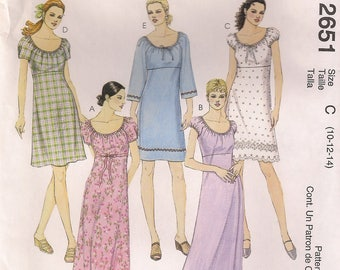 McCall's Sewing Pattern 2651 - Misses' Tunic and Pants in Two Lengths (4-8, 8-12, 10-14)