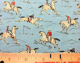 Cotton Fabric, P Kaufman, Horse Print Fabric, Fabric BTY