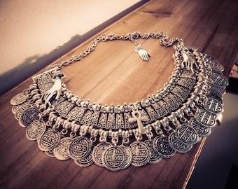 Necklace silver Egyptian Ankh Boho Chic ♠Cleopatra♠