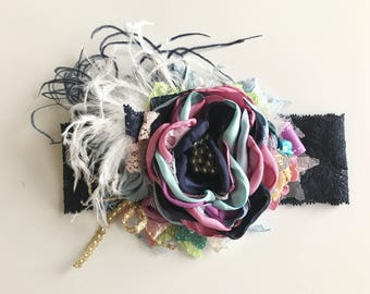 Flower Headband, baby girl headbands, matilda jane headband, birthday headbands