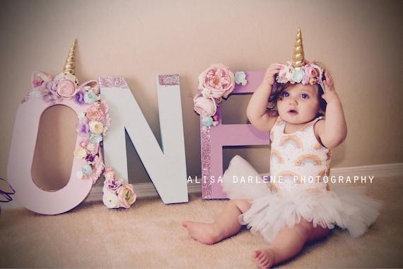 Unicorn Headband- Unicorn Birthday-unicorn party, Unicorn Flower Crown- birthday headband- univorn horn, baby headband