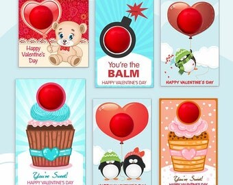Valentine's day EOS lip balm   INSTANT DOWNLOAD