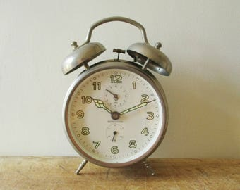 vintage french alarm clock jaz home decor industrial