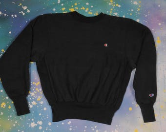 Black CHAMPION Reverse Weave SWEATSHIRT Size M