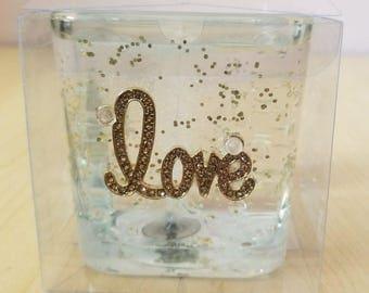Gel Decorative LOVE Theme Clear Candle Handmade