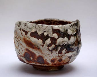 Wood fired Shino Tea Bowl