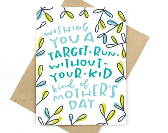funny mother's day card - target run