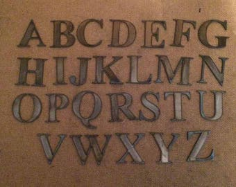Bronze Letters For Sale Metal Letters  Etsy