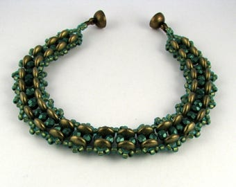 Glass Beaded Bracelet in Tropical Colors