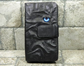 Hocus Pocus Wallet Woman's Black Leather Clutch Pocket Credit Card Holder Halloween Accessory Pagan Goth RPG